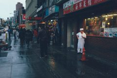 Rainy day on the street of Chinatown in Lower Manhattan Street Photography with Fujifilm