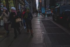 Rainy day on the Canal Street in Chinatown in Lower Manhattan Street Photography with Fujifilm.